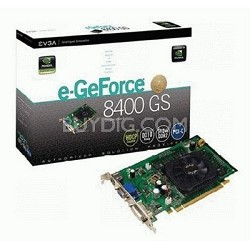 GeForce 8400GS 512MB DDR2 PCIe Graphics Card (512-P2-N738-LR)