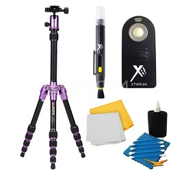 A0350Q0P Backpacker Travel Purple Tripod Accessory Kit