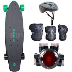 E-GO 2 Electric Skateboard - Deep Mint Green with Safe Skater Bundle