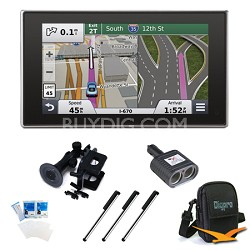 """nuvi 3597LMTHD 5"""" Bluetooth GPS with Lifetime Maps and Traffic Essentials Bundle"""