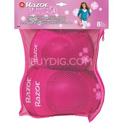 Youth Sweetpea Ages 8 - 14 Elbow and Knee Pad Set - Pink