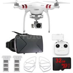 Phantom 3 Standard Quadcopter Drone + 2.7K Camera FPV Virtual Reality Experience