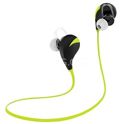 Noise Reduction Wireless Bluetooth Lightweight Sport Headphones w/ Mic - Green
