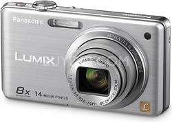 DMC-FH20S LUMIX 14.1 Megapixel Digital Camera (Silver) - Open Box