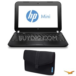 "Mini 10.3"" 110-4250NR Netbook PC and SlipCase Notebook Case Bundle"