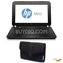 "Mini 10.3"" 110-4250NR Netbook PC and SlipCase Notebook Case Bundle"