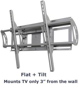 Flat + Tilt Smart Mount for select Large Flat Panel TVs (Silver) - OPEN BOX