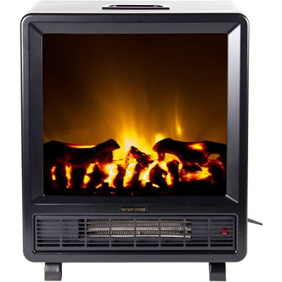 TFF-10308 Topaz Floor Standing Electric Fireplace - Black