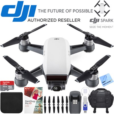 Spark Alpine White Quadcopter Drone 32GB Photo Creator Bundle
