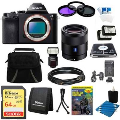 Alpha 7R a7R Digital Camera, 55mm f1.8 Lens, HVL-F60M Flash Bundle