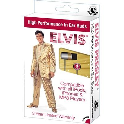 RBW-5697 - Elvis 'superstar' In-Ear Buds Window Box