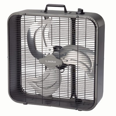 Metal Box Fan, 20-Inch- Black - B20725