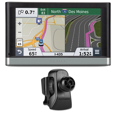 nuvi 2597LMT 5` Bluetooth GPS Navigation w/ Lifetime Maps Vent Mount Bundle