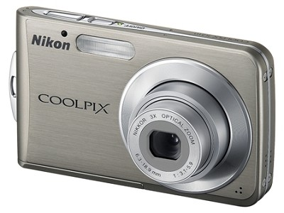 Coolpix S210 Digital Camera (Brushed Bronze) with Free 2GB Memory Card