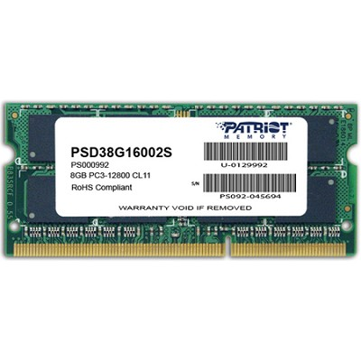 Signature DDR3 8GB 1600MHz SODIMM