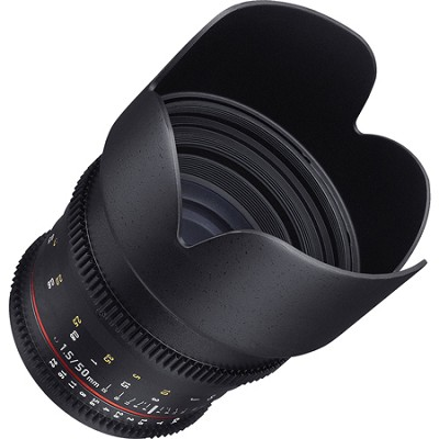 50mm T1.5 Cine VDSLR II Lens for Canon Mount