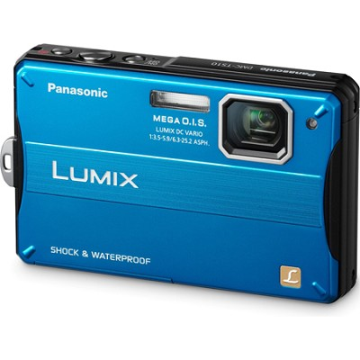 Lumix DMC-TS10A 14.1 MP Digital Camera (Blue) - OPEN BOX