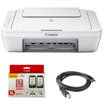 Pixma All-In-One Color Printer, Scanner, Copier w/ Genuine Canon Ink Bundle