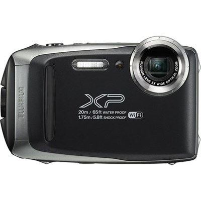 FinePix XP130 Waterproof Digital Camera Kit (Silver) with 16GB SD Memory Card