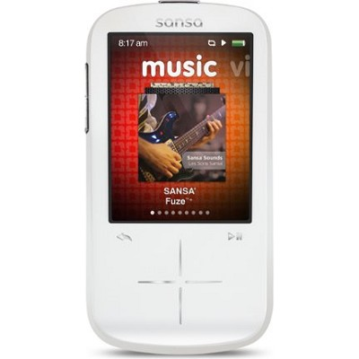 Sansa Fuze+ 8GB White MP3 MP4 Video Music Player w/ FM Radio