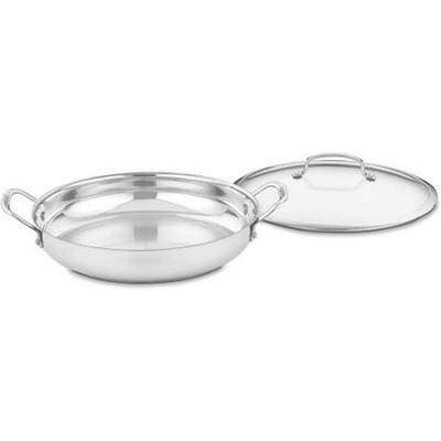 Contour Stainless 12-Inch Everyday Pan with Glass Cover