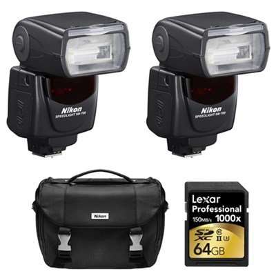 SB-700 AF Speedlight Flash for Nikon DSLR Cameras , Case, and Card Bundle