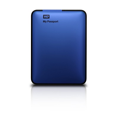 My Passport 1 TB USB 2.0/3.0 Portable Hard Drive -  (Blue) - OPEN BOX