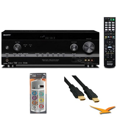 3D 7.1 Channel A/V Receiver (STRDH830) with HookUp Bundle