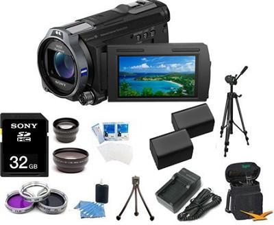 HDR-CX760V HD Camcorder 24.1 MP Stills 10x Optical Zoom Ultimate Bundle (Black)