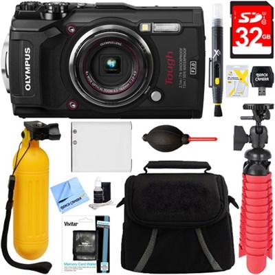 TG-5 12MP 4x Optical Zoom Digital Camera (Black) + 32GB Deluxe Accessory Bundle