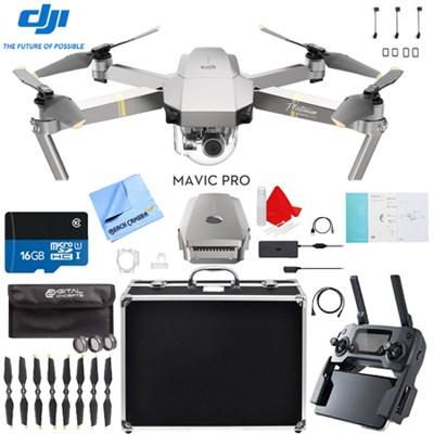 Mavic Pro Platinum Quadcopter Drone + Aluminum Case and Accessory Kit