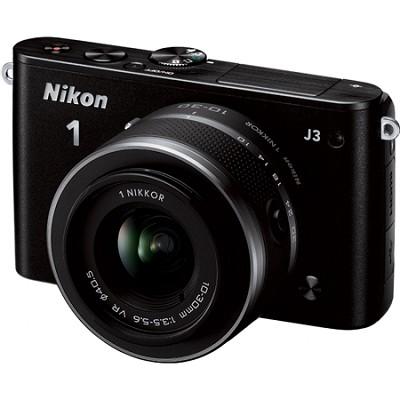 1 J3 14.2MP Black Digital Camera with 10-30mm VR Lens Factory Refurbished