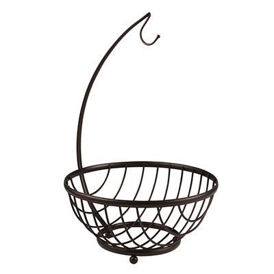 Ashley Fruit Basket and Banana Holder, Bronze - 57824