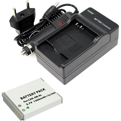 NB-6L/NB-6LH Battery (2 PACK) and Charger Kit for CANON PowerShot Cameras