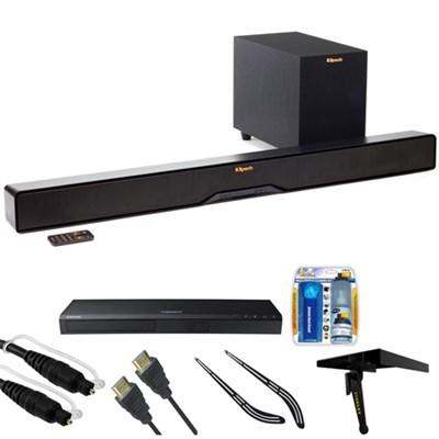 Reference 2-Way Soundbar with Wireless 6.5` Subwoofer R4B w/ HD Blu-ray Bundle