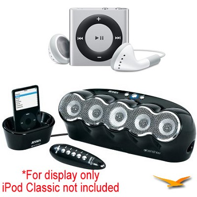 JISS-550-BK Banshee Docking Speaker Station and iPod Shuffle Bundle
