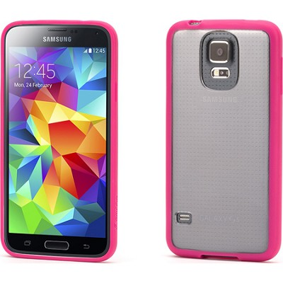 Reveal Clear Protective Case with Pink Trim for Samsung Galaxy S5
