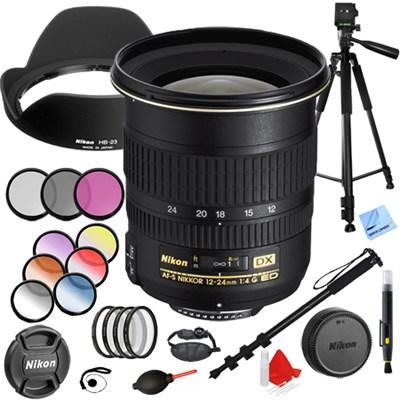12-24mm F/4G ED-IF AF-S DX Zoom-Nikkor Lens with 77mm Filter Sets Kit