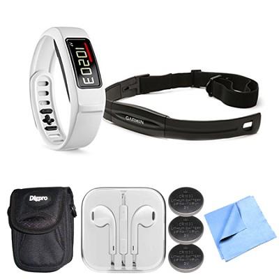 Vivofit 2 Fitness Band Bundle w Heart Rate Monitor (White)(010-01503-31) Bundle