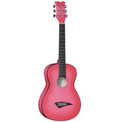 Playmate Mini Acoustic Guitar, Pinkburst with Gig Bag, 3/4-Size