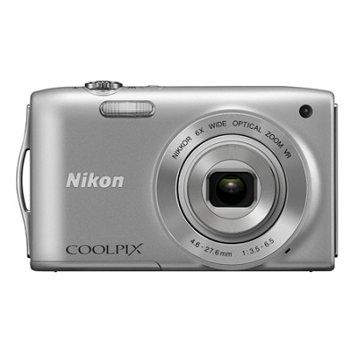 COOLPIX S3300 16MP 6x Opt Zoom 2.7 LCD - Silver