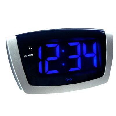 LED Blue Digit USB Alarm Clock - 75904