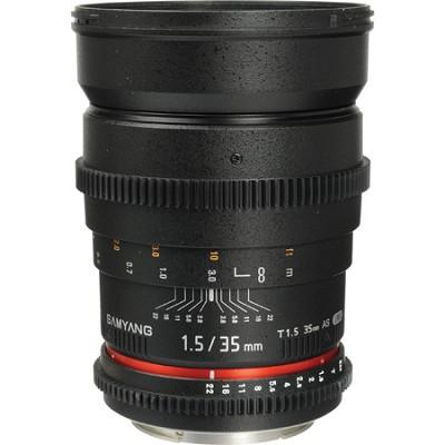 35mm T1.5 `Cine` Wide-Angle Lens for Canon VDSLR