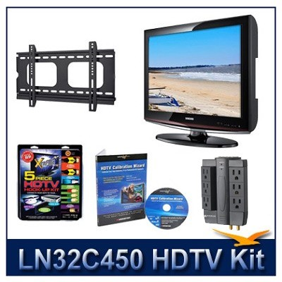 LN32C450 HDTV + Hook-up Kit + Power Protection + Calibration + Flat Mount