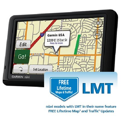 nuvi 1490LMT 5-Inch Bluetooth Portable GPS with Lifetime Map and Traffic updates