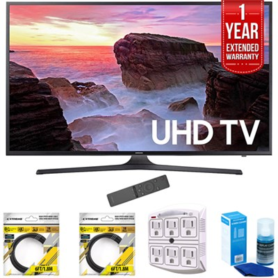 55` 4K Ultra HD Smart LED TV 2017 Model with Extended Warranty Kit