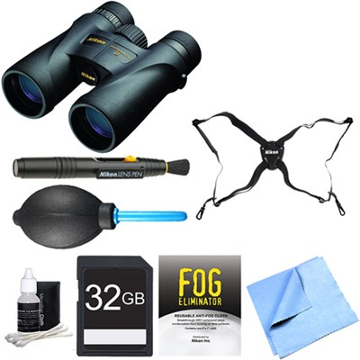 7578 Monarch 5 Binoculars 12x42 Adventure Bundle