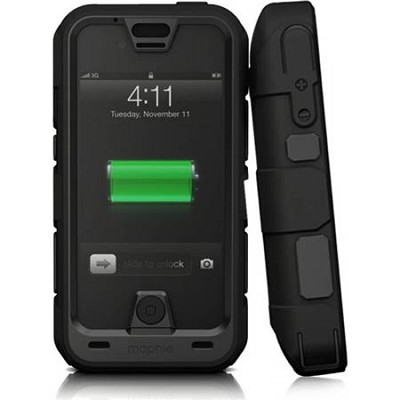 Juice Pack Pro Ruggedized Black Rechargeable 2800mAh Battery Case for iPhone 5