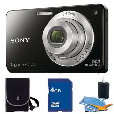 Cyber-shot DSC-W560 Black Digital Camera 4GB Bundle