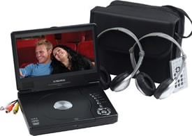 8' Slim Line Portable DVD Player Package